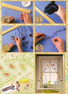 how to make those fabulous beaded curtains