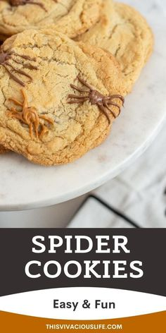 These gluten-free spider chocolate chip cookies are so easy to make and everyone will love them especially on Halloween! This Halloween chocolate chip cookie recipe is gluten free, ready and baked in only 16 minutes. Making this a NO CHILL cookie recipe. Make these just because, for an after school treat or as a fun dessert for you next gathering to celebrate this fall. #GlutenFreeChocolateChipCookies #HalloweenCookies #ThisVivaciousLife Gluten Free Gingerbread Cookies, Gluten Free Christmas Cookies, Gluten Free Sugar Cookies, Gluten Free Chocolate Chip Cookies, Paleo Cookies, Paleo Baking, Gluten Free Baking, Gluten Free Desserts, Gluten Free Pastry