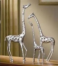 World Menagerie 3 Piece Giraffe Family Figurine Set Giraffe Decor, Giraffe Art, Elephant, Family Sculpture, Sculpture Art, Contemporary Decorative Objects, Giraffe Family, Joss And Main, Animals Beautiful
