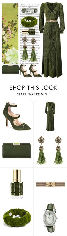 """""""Monochrome!!"""" by alowho ❤ liked on Polyvore featuring Charles by Charles David, Judith Leiber, WithChic, L'Oréal Paris, N°21, Gucci and Croton"""