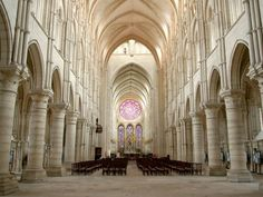 Laon Cathedral, LaonWhile Laon Cathedral is often compared to its Gothic-style cousin in Paris, Notre Dame, the use of white stone makes the interiors at Laon brighter—and easier to Instagram. It is best known for its large stained glass rose window and its magnificent organ.Photo: Getty via @AOL_Lifestyle Read more: http://www.aol.com/article/2016/04/01/the-10-most-beautiful-churches-in-france/21336798/?a_dgi=aolshare_pinterest#slide=3...