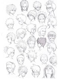 various hairstyles male by Komodo92Tenbinza on DeviantArt