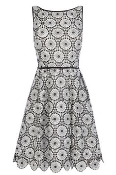 A classic wardrobe essential perfect for any occasion this season. The Tallulah Lace Dress is an effortless style tailored to flatter the figure with its A-line fit and flare silhouette. The contrasting waistband cinches you in whilst the all over crochet lace and scalloped hem gives this piece an exquisite touch. This fully lined dress closes with a concealed back zip.