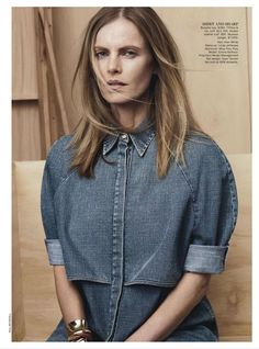 "Fashion on the Couch: Editorial Vogue Australia January 2013 ""True Blue"" By Paul Wetherell"