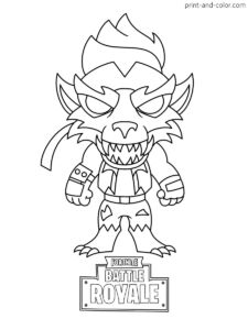 Fortnite battle royale coloring page Max Dire Werewolf Chibi Skin Season 6 Chibi Coloring Pages, Cat Coloring Page, Coloring Pages For Boys, Coloring Pages To Print, Colouring Pages, Printable Coloring Pages, Coloring Sheets, Coloring Books, Kids Pages