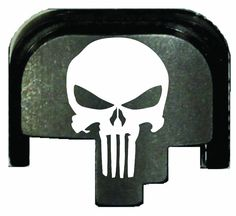 Skull Rear Slide Cover Plate for Smith & Wesson M&P full size and ...