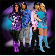 ABBA...always loved their outfits and boots! No girls EVER looked better in tunics and boots besides Anni Frid and Agnetha. They were living Barbies to us little nobody teen girls! So glam!
