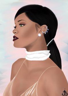 Rihanna draw illustration