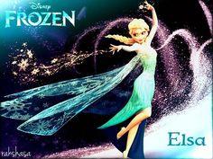 Elsa from Frozen disney.