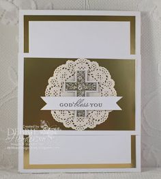 First Communion & Confirmation Gift for my granddaughter in a 3D Folder with a Belly Band. Stampin' Up! products used. Debbie Henderson, Debbie's Designs.