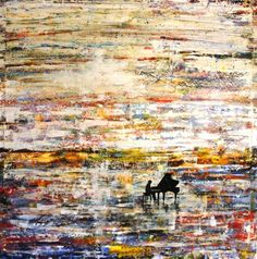 """Saatchi Art Artist Paolo Cervino; Painting, """"About poetry n. 51- piano playing at dawn"""" #art"""
