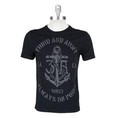 3rd & Army Mens Contemporary Anchor Tee #VonMaur #3rdAndArmy #Navy #GraphicTee #Anchor #Mens