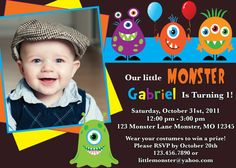 I want this monster party invitation with different words!