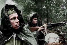 Russian soldiers with DP28 near Moscow