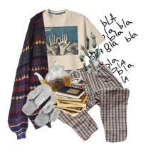 """i need to do french revision"" by mxllym ❤ liked on Polyvore featuring Retrò"