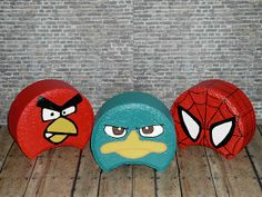 Angry Birds, Perry from Phineas and Ferb and Spider-Man