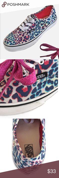 9d0b51fa4b6 Vans Authentic Multicolor Leopard Print Sneakers Girls Vans Authentic  Canvas trainers Featuring all over Multicolor leopard