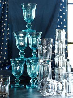 Colorful Cafe Glassware