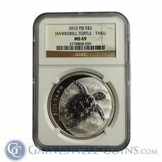 #WorldTurtleDay 2014! Check out this awesome this awesome 1 oz Silver Coin featuring a Hawksbill Seaturtle struck in .999 fine silver by the New Zealand Mint. More coins like this, http://www.gainesvillecoins.com/category/409/new-zealand-mint-silver-coins.aspx