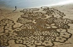 sand koru incredibly beautiful temporary art