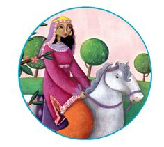 Martina Peluso illustration for Saviour Pirotta's George and the Dragon (Collins, 2015) Princess Sabra rides out.