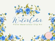 blue-floral-wreath-cliparts