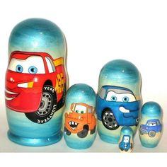 Cars Russian Nesting Dolls