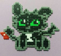 Toothless HTTYD hama beads by lilith_artesanias