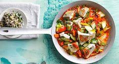 Scharfe Gemüse-Fisch-Pfanne
