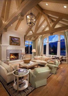 High Ceiling Interior Design Ideas Labor Junction / Home Decor / Home Improvement / Beams / Cream / Lighting / Home Rennovation / Windows / www.laborjunction.com