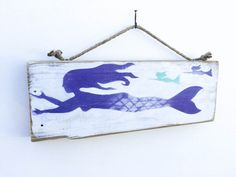 Hey, I found this really awesome Etsy listing at https://www.etsy.com/listing/397937457/mermaid-art-handmade-on-reclaimed-wood