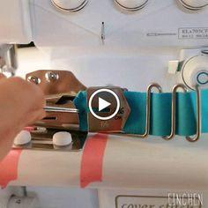 Doppelnaht: tutorial - einzelfaltschrägbinder für die cover maschine