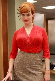 Joan Holloway (Christina Hendricks) in Mad Men Christina Hendricks, Mad Men Fashion, Vintage Fashion, Trendy Fashion, Womens Fashion, Fashion Styles, Girl Fashion, Fashion Check, 1960s Fashion