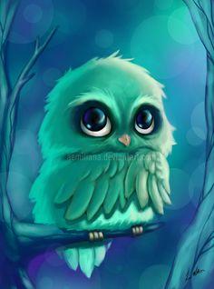 Owl by leamatte.deviantart.com on @deviantART