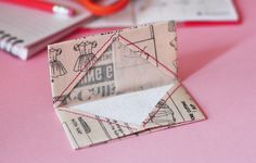 Fabric Origami Business Card Holder on Brit + Co