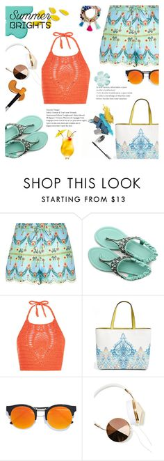 """""""Untitled #561"""" by millilolly ❤ liked on Polyvore featuring Pacha, Ollio, New Look, Echo, LULUS, Frends, BaubleBar and summerbrights"""