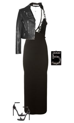 """""""Untitled #1517"""" by quaybrooks on Polyvore featuring Givenchy, Yves Saint Laurent and Chanel"""