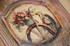 Купить НА ПРОГУЛКЕ - разноцветный, панно, панно на стену, панно сосна, панно кантри