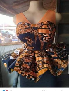 Short African Dresses, African Blouses, Latest African Fashion Dresses, African Print Dresses, African Print Fashion, African Print Peplum Top, African Attire, Ankara Blouse, Ankara Peplum Tops