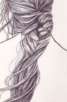 #fishtail #braid #sketch