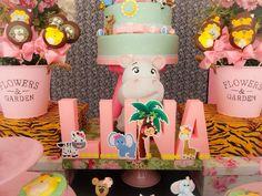 Ideias para festa safari rosa, safari para menina, decoração festa safari