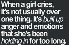 When a female cries...