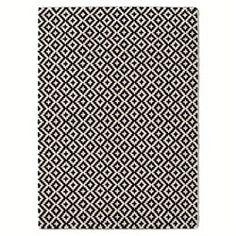Tapis tufté en laine noir et blanc, Nevio La Redoute Interieurs