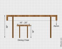 wooden kitchen table dimensions google search - Kitchen Table Height