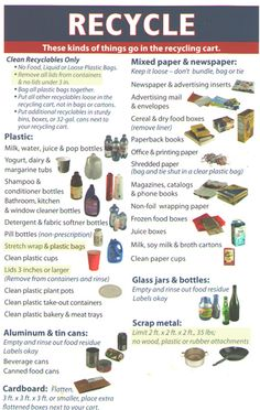 great recycling chart