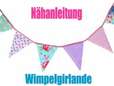 Nähanleitung - Wimpelgirlande - ebook von Fliegenpilzle auf DaWanda.com