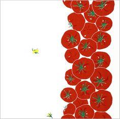 手ぬぐい「まっかなトマト」 Fruit Illustration, Food Illustrations, Vegetable Packaging, Tissue Paper Art, Restaurant Poster, Watercolor Fruit, Doodle Patterns, Fruit Art, Kitchen Art