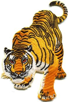 Tiger cat puma jaguar lion animal wildlife LARGE applique iron-on patch S-495 #Unbranded