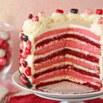 Can I have a slice of this Sky-High Pink and Red Velvet Cake??? :)