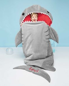 personalized shark sleeping bag